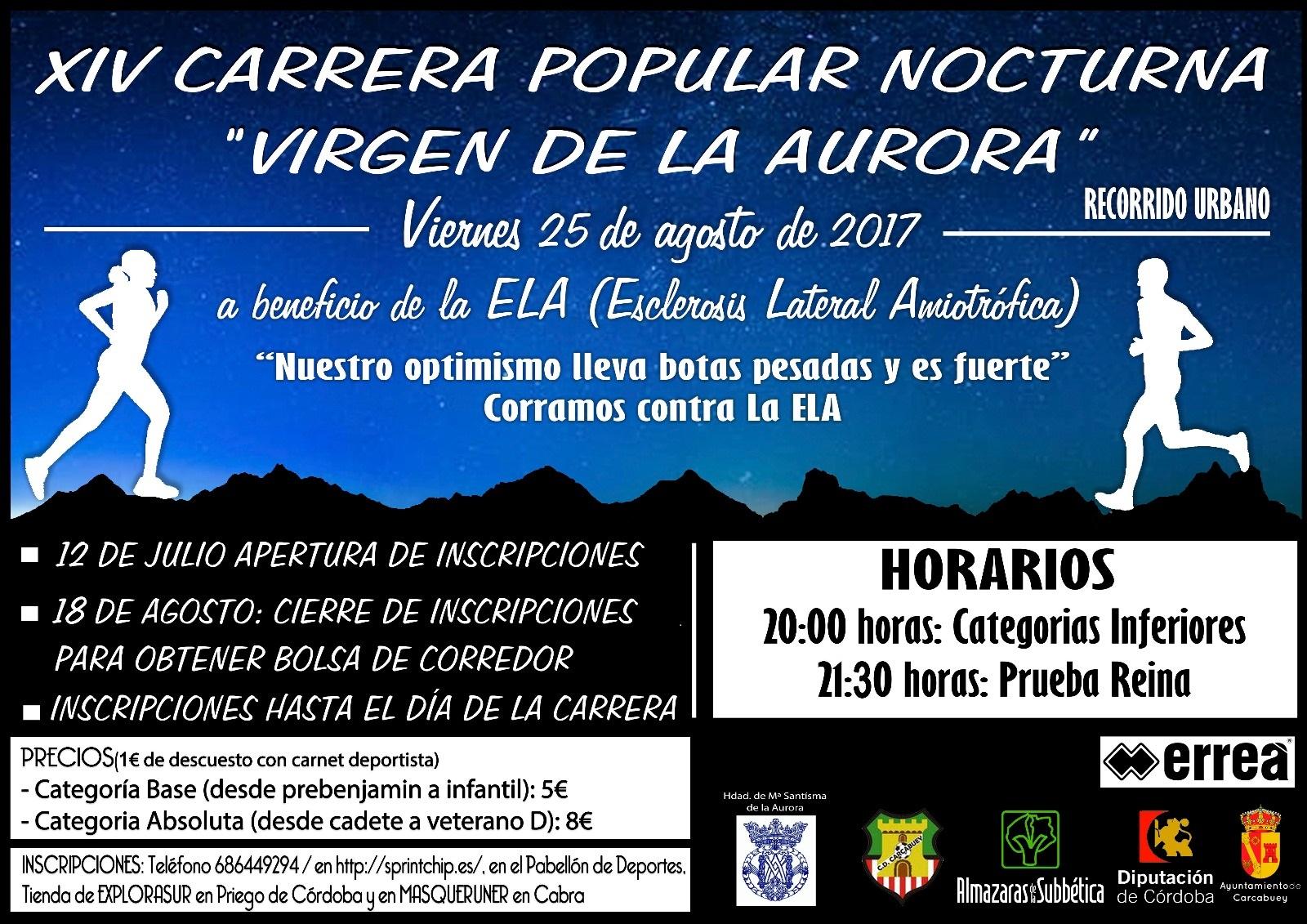 XIV Carrera Popular Nocturna 'Virgen de la Aurora' - Sprint Chip