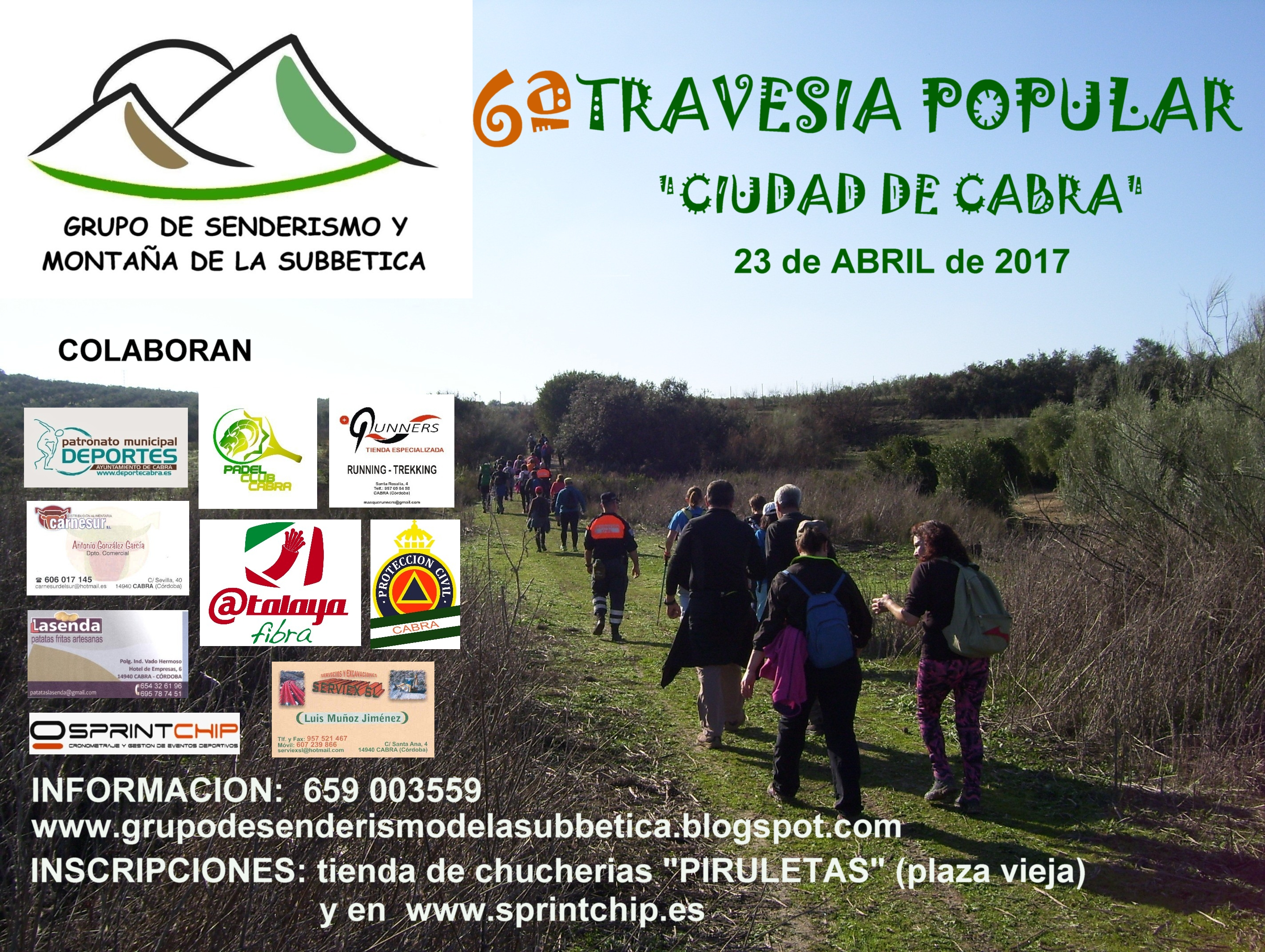 6ª TRAVESIA POPULAR CIUDAD DE CABRA - Sprint Chip