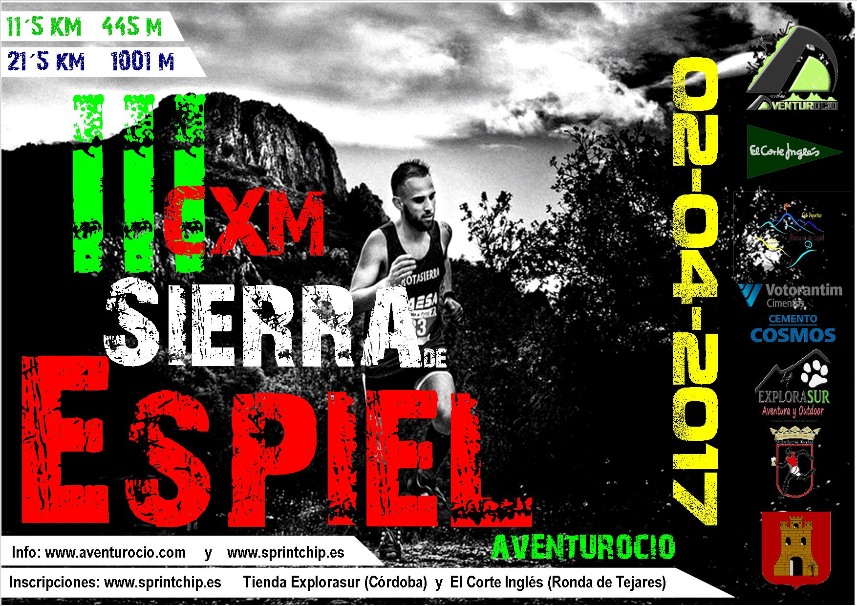 III CXM SIERRA DE ESPIEL - TRAIL LARGO - Sprint Chip