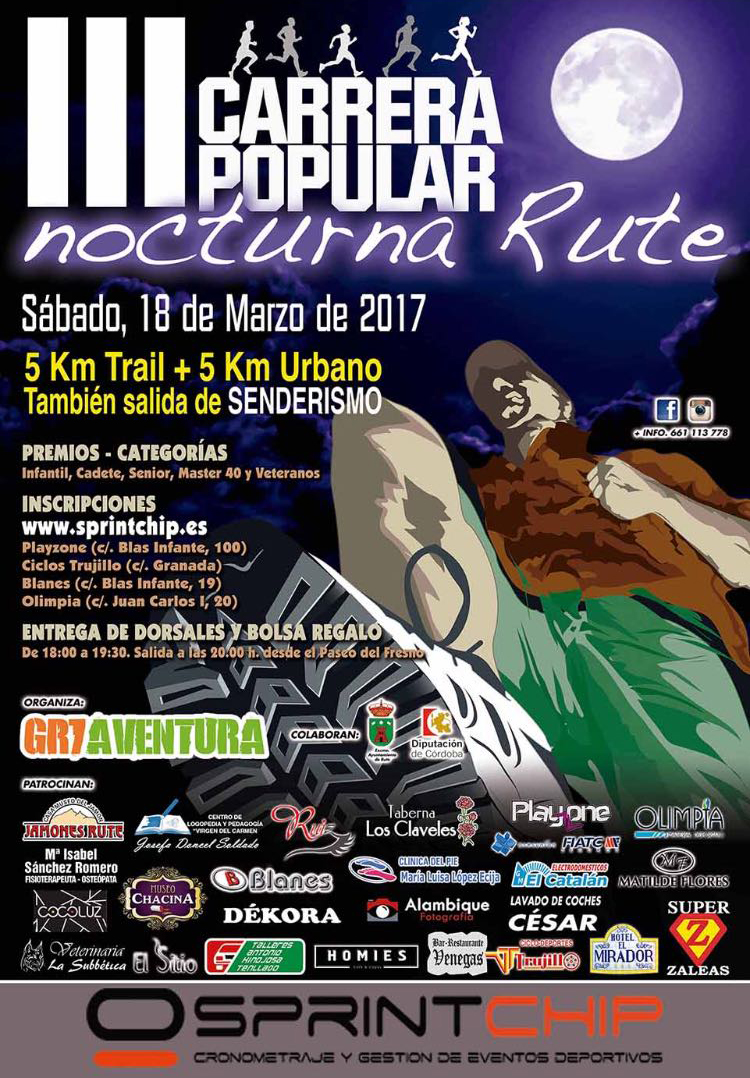 III Carrera Popular Nocturna de Rute - Sprint Chip