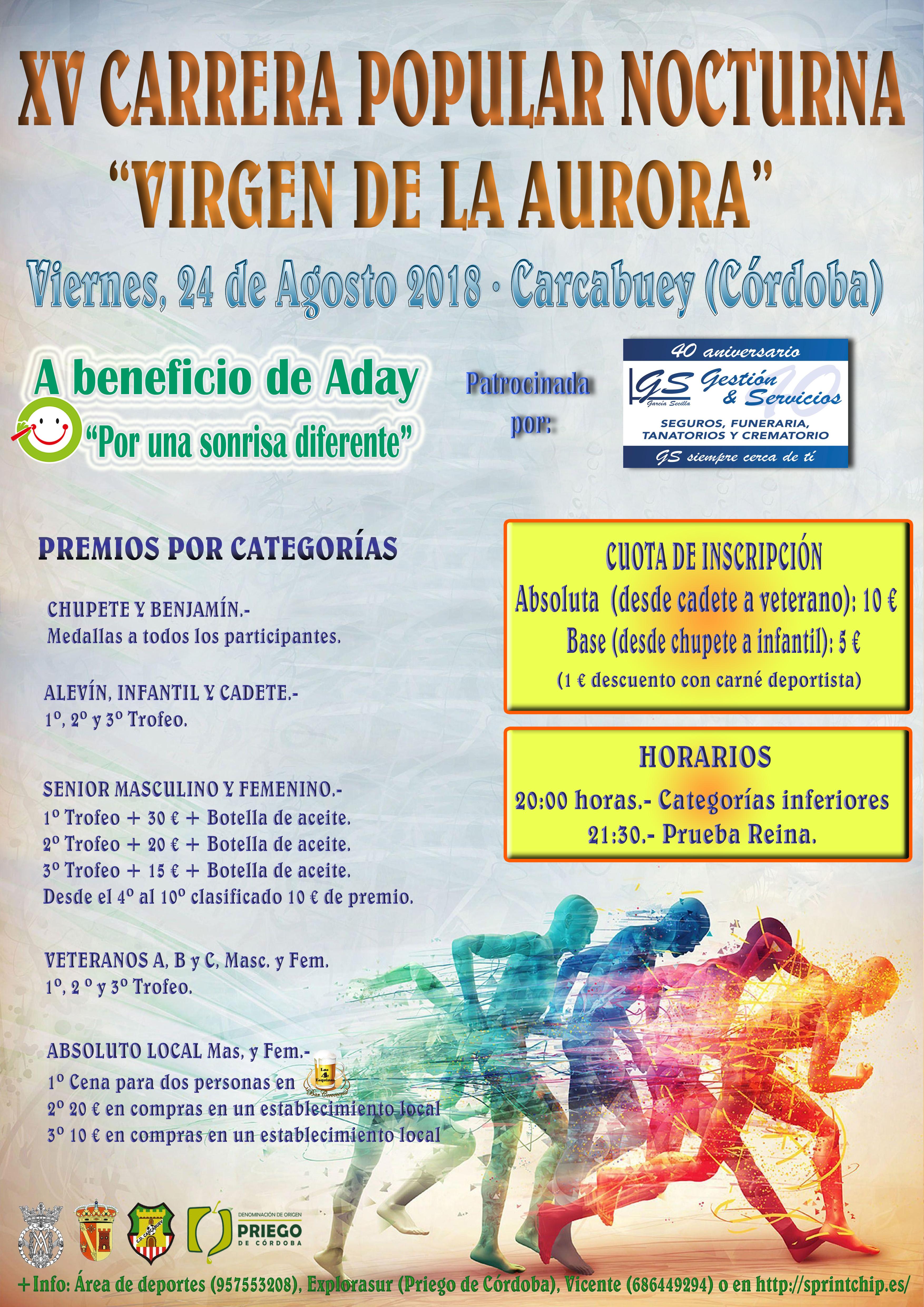 XV Carrera Popular Nocturna 'Virgen de la Aurora' - Sprint Chip