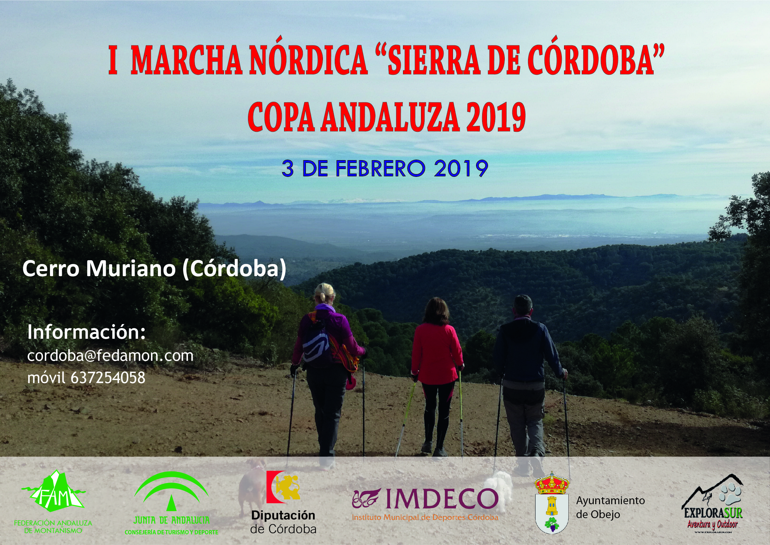 I Marcha Nórdica 'Sierra de Córdoba'  COPA ANDALUZA 2019 - Sprint Chip