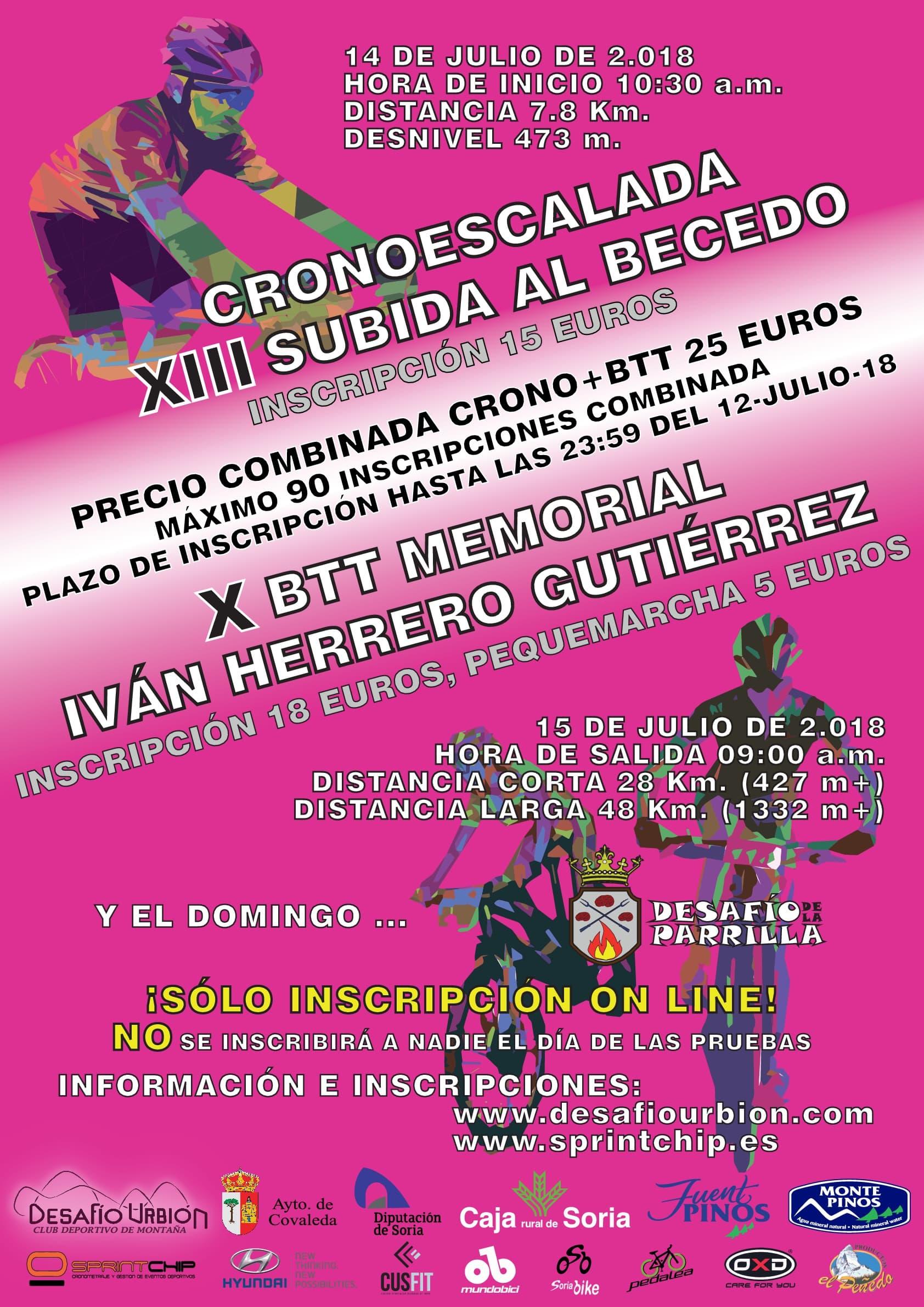 XIII Crono Escala 'Subida al Becedo' - X Memorial Ivan Herrero Gutierrez - Sprint Chip